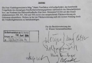 Antrag Bezirksvertretung zur Hundewiese 16. Juni 2014