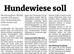 Die_Hundewiese_muss_Grün_bleiben_Seite_1_Wiener_Bezirkszeitung_Ausgabe_15_2016