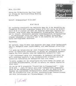 Pro Hetzendorf - Antrag Widmungsentwurf PD Nr. 8187